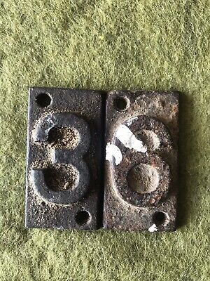 Cast Iron Nubers Each 2 /1/4 X 1/1/4 Inches Vintage Could Be Neither 36 Or 93