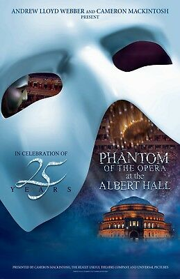 The Phantom of The Opera poster - 11 x 17 inches - 25th Anniversary Concert