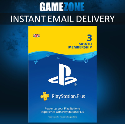 90 Days PlayStation Plus PSN Membership UK - PS Store 3 Month Code - PS4 Instant