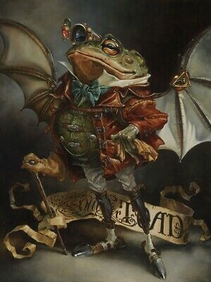 Disney Fine Art THE INSATIABLE MR. TOAD by Heather Edwards Giclée on Canvas