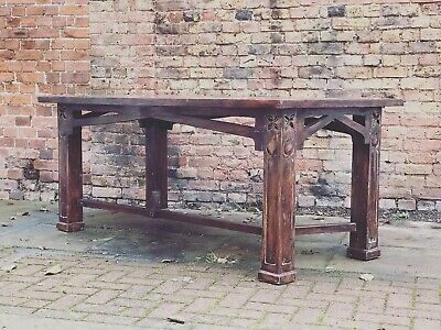 Refectory Table Very Much In The Manner Of Art Nouveau.