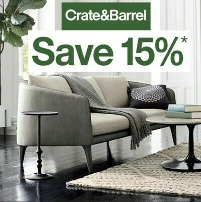 Crate Barrel 15% off Entire Orders C0upon (include Furnitures) Exp 5/30/20