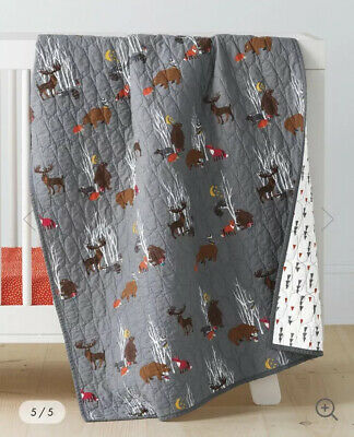 Hanna Andersson Lilla (Crib Size) Woodlands Quilt NEW