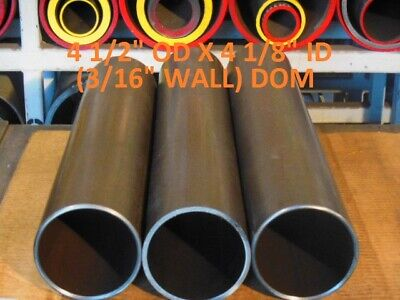 "E0440A  Dom Round Steel Tube  4.500 Od  X  4.125 Id  (.187 Wall)   8""  Long"