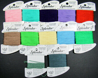 RAINBOW GALLERY-SPLENDOR-12 PLY 100/% SILK-STRANDABLE FOR NEEDLEPOINT-COLOR-S858-MEDIUM NAVY-THIS LISTING IS FOR 1 CARD