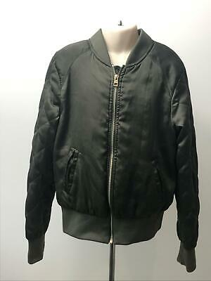 Girls H&M Khaki Green Lightweight Bomber Coat Jacket Kids Eur 152