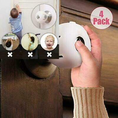 EUDEMON 4 Pack Baby Safety Door Knob Covers Locks