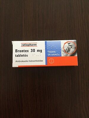 ratiopharm-Brontex is used for easing cough & its symptoms-Bronchitis-20 tablets