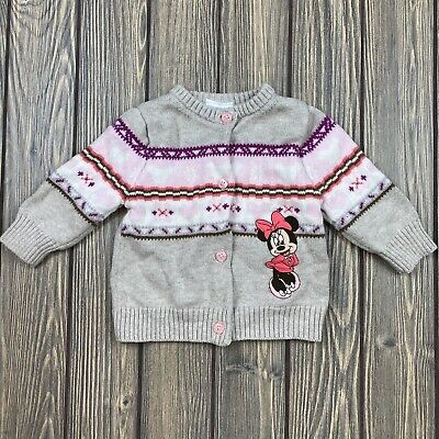 disney baby by disney store baby girl 3-6 month minnie mouse sweater