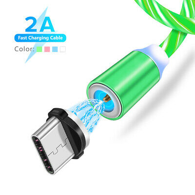 Câble Charge Chargeur Rapide Magnétique Type C USB C Cord LED LED Huawei Samsung
