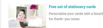 SHUTTERFLY FREE Stationery Cards/Thank You (12 free 3x5 folded cards)7/30/20