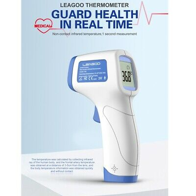 LEAGOO Adult Baby Forehead Medical NoContact Infrared Digital Thermometer Gun CE