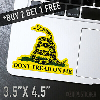 DONT TREAD ON ME Sticker -  Gadsden Flag Freedom Military Snake Car Window Flag