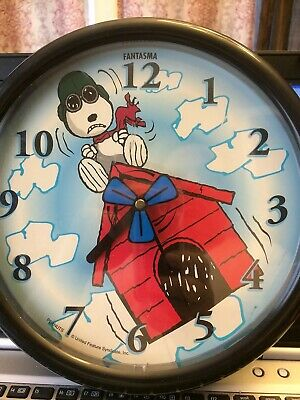 Snoopy Flying Ace Red Baron Wall Clock
