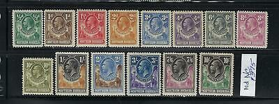 Northern Rhodesia Scott #1-11/13/15/16 1925 George V Partial Set-Mint Lh/Hinged