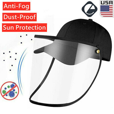 Transparent Anti Saliva Baseball Cap Dust Proof Full Face Protection Cover Hat
