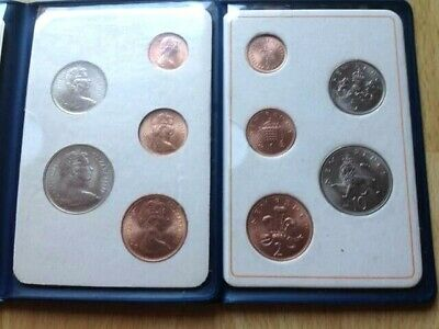 RARE GB UK The Royal Mint, 1971 Britain's First Decimal Coins UNC in Wallet.MINT
