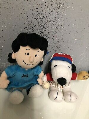 Peanuts Lucy Plush Metlife Doll Blue Dress Black Sneakers Bossy Van Pelt Rare