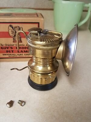 Antique Guy's Dropper Pit Lamp Collectible Rock Miners Lantern Brass Light