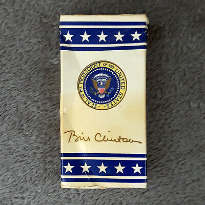 Bill Clinton 8x10 Signed photo presidential seal US president autographed print