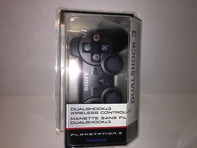 Sony PlayStation Dualshock 3 GAME Controller Black PS3 OEM OFFICIAL  NEW SEALED