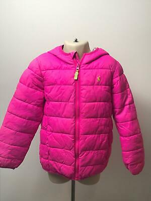 Girls Joules Pink Lightweight Hooded Quilted Padded Coat Jacket Kids Age 6 Yrs