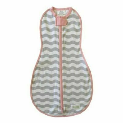 Woombie Original MOD Waves Pink Grey swaddling Blanket 5-13 lbs newborn
