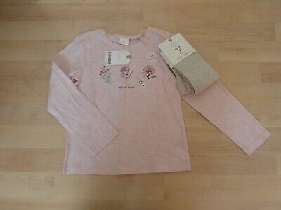 Bnwt Next Girls Top And Tights Set Age 4-5 Years
