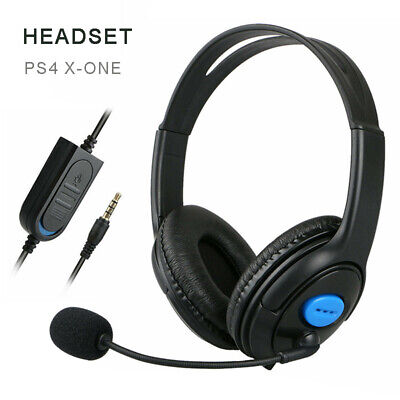 PS4 Gaming Headset Stereo Surround Headphone Wired Mic For Laptop Xbox One