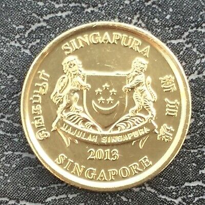2013 5 Cents Coin Singapore Good Grade
