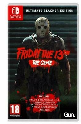 Friday The 13th Ultimate Slasher Edition Nintendo Switch Horror Game Adult FUN