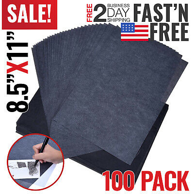 100* Carbon Paper Transfer Copy Sheets Graphite Tracing For Wood Blue A4 K4S1