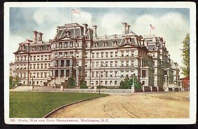 Washington D.C. State War and Navy Departments unused Vintage Postcard wdc35a