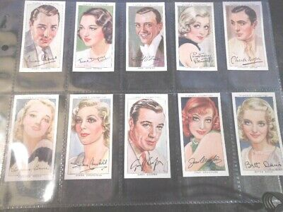 1938 Player FILM STARS movie set ser.3 Tobacco Cigarette cards complete  Ex-MT