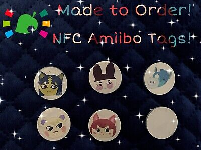 Animal Crossing New Horizons ANY Villager Amiibo NFC Tags With Fan Art