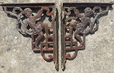 Antique Original Cast Iron Wall Brackets