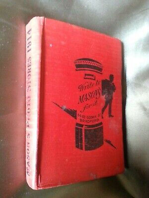 Mason's Photo Stores 1914 Catalogue/ Book Vintage photography equipment for sale