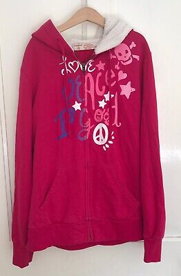 NO BOUNDARIES (from the US) Girls' Pink Hooded Sweatshirt-11/13 Yrs-Exc. Cond.