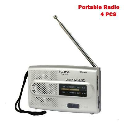 Telescopic Antenna Battery Powered Mini Portable Pocket AM FM Radio Receive BE