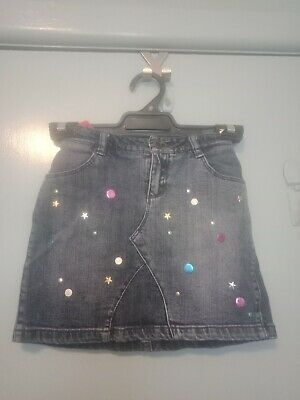 Little Marc Jacobs denim skirt with circles and stars in size 8