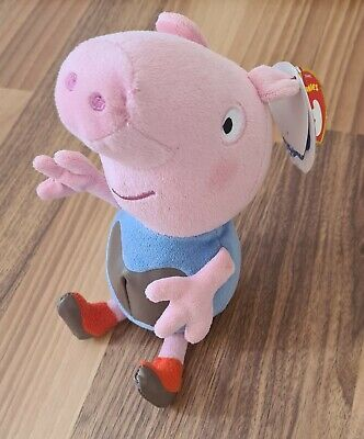 """MWMT Ty Beanie Baby ~ PEPPA PIG MUDDY PUDDLES 6.5/"""" UK EXCLUSIVE"""