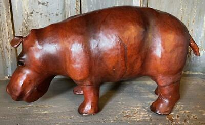 Small Standing Hippo - Hand Made - Covered in genuine Leather