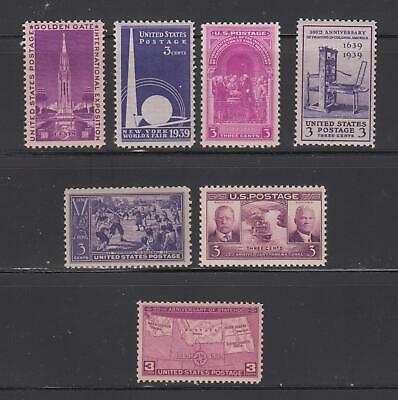 Us,852-858,1939 Complete Year, Collection Mint Nh,Og