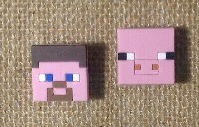 Minecraft Pig & Steve Jibbitz Crocs Shoe Bracelet Wristband Charm Set of 2