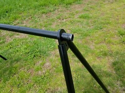 AR500 Steel Target Pipe Stand Brackets. Pipe not included.