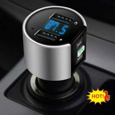 Handsfree Wireless Bluetooth Car FM Transmitter Radio MP3 Player USB Charger New
