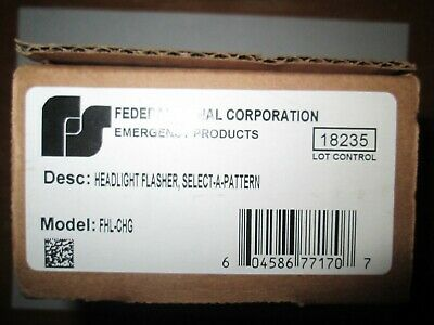 New in Box-Federal Signal FHL-CHG Headlight Flasher-Select a Pattern