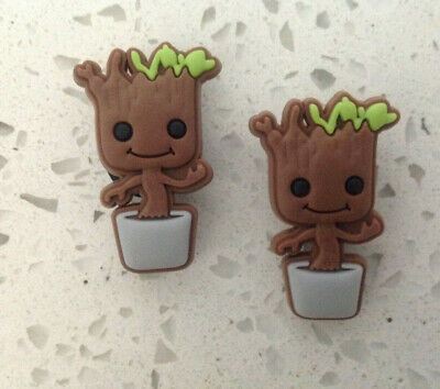 Baby Groot Charm Set For Your Crocs Shoe Jibbitz Bracelet Wristband