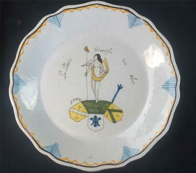 M080 Six Hand Painted French Faience Plates Revolution