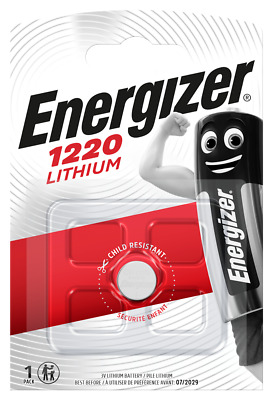 3x Energizer CR1220-C1 Litihium 3V Coin Cell CR 1220 Batteries (3 Batteries)